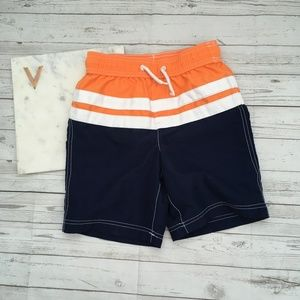lands end boys s swim trunks board shorts orange n